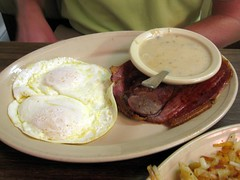 bobby & june's - country ham with eggs