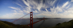 Panorama Golden Gate Bridge (Tom Fooley) Tags: sanfrancisco bridge sky panorama goldengate the4elements