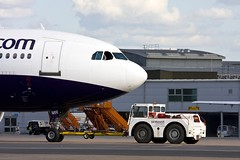 Monarch Airbus A300 (Monarch Aircraft Engineering) Tags: uk travel photo aircraft engineering aeroplane photograph repair airline maintenance monarch airbus luton airliner aerospace mro a300 overhaul ltn a300b4605r