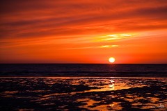 Sunset with volcanic dust (BraCom (Bram)) Tags: sunset red orange netherlands clouds volcano iceland explore dust storms goereeoverflakkee brouwersdam sunsetssunrises bracom mygearandme mygearandmepremium mygearandmebronze