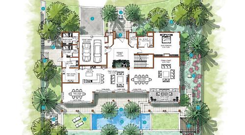 Villa Floor Plan Dubai Villa Floor Bhk Floors Blog Hr
