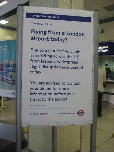 London Underground Sign on Volcanic Ash