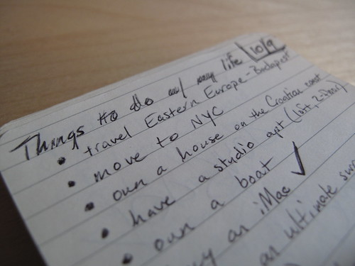 Things to do w/ my life (9 Oct 2007)
