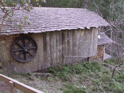 Woodshed with old shipwright's form