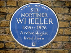 Photo of Mortimer Wheeler blue plaque