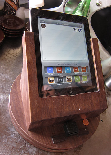Wooden iPad Holder For Square