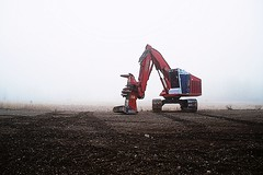 Madill (Mike Ambach) Tags: mist industry fog spooky utata picnik loggingmachine fallerbuncher