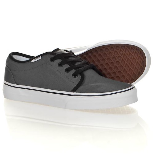 vans 106 vulcanised pewter and black shoe