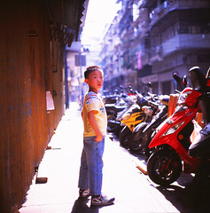 don't look back in anger (filmprince) Tags: rolleiflex fuji iii jimmy un macau provia f28 macao schneider 80mm rdp 28c xenotar