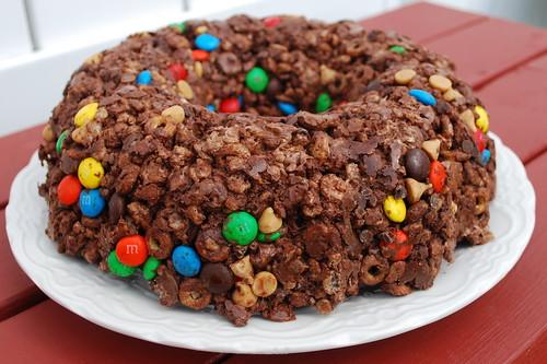 Choco Cheerio Rice Krispie Cake FS