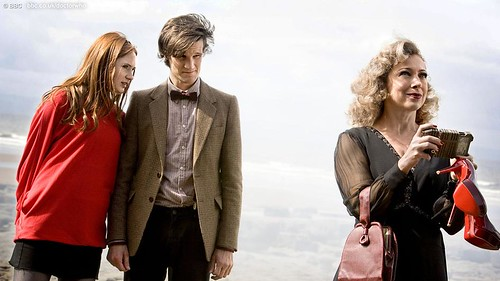 Amy, the Doctor and River Song