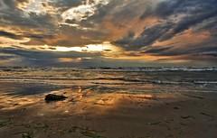 Between past and future - Fra passato e futuro (Robyn Hooz) Tags: sea beach ex colors clouds canon mare waves alba sigma romantic algae 1020 spiaggia romantico onde alghe sottomarina hsm mywinners 1000d