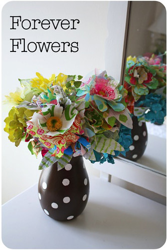 Forever Flowers Fabric Bouquet Tutorial by Happy Together Creates