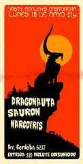 SAURON DRAGO 10 DE MAYO (emy mariani) Tags: rock flyer pato afiche pintura stoner calavera sauron dragonauta emymariani