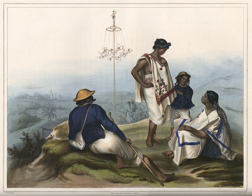 007-Indios de la sierra de Guachinango -Voyage pittoresque et archéologique dans la partie la plus intéressante du Mexique1836-Carl Nebel
