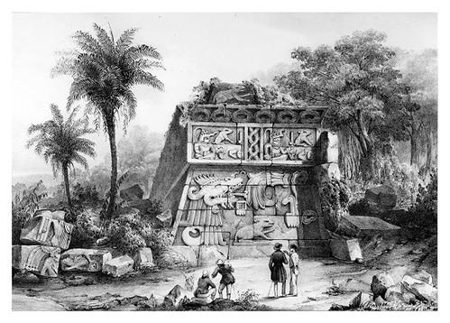 026-Ruinas de la piramide de Xochicalco-Voyage pittoresque et archéologique dans la partie la plus intéressante du Mexique1836-Carl Nebel