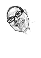 digital sketch of Moises - 2
