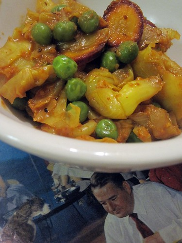 Curried Cabbage and Peas