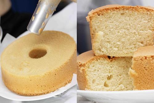 Viola, vanilla chiffon cake