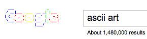 Google ASCII Art Logo