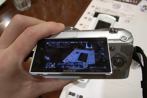 SONY NEX-3 (trial event at SONY show room Ginza)
