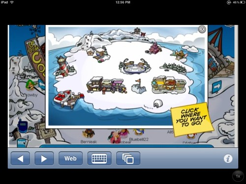 Club Penguin on the iPad via Cloud Browse