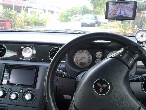 Mitsubishi Airtrek Turbo & Garmin