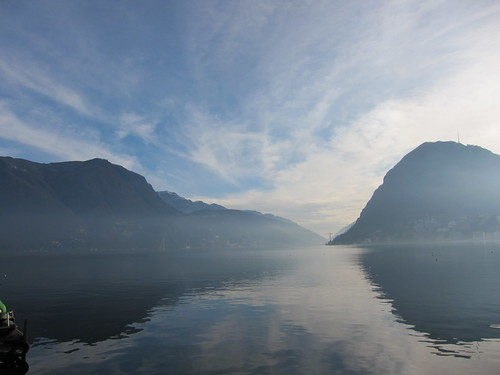 amazing sky and reflections at Lake Lugano