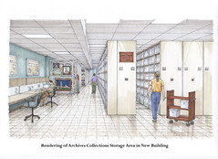Copy of Collection storage area (utwebteam) Tags: building campus baker tour exterior amy interior renderings drawings center facilities blakely bakercenter prdrop