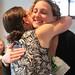 Willow and KM hug