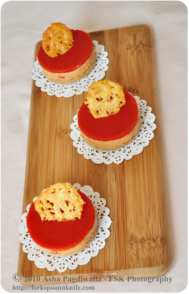 Roasted pepper Mousse top view WM