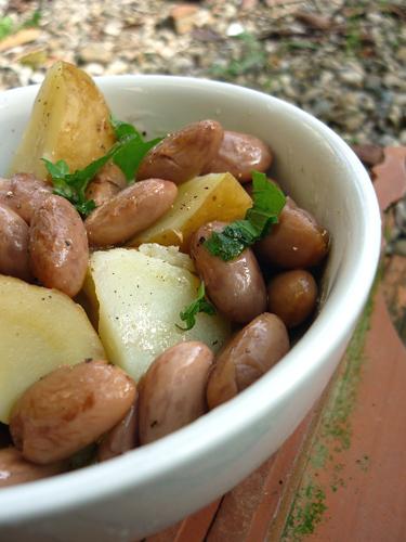 insalata tiepida borlotti&patate