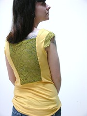 Green and Yellow Lace Top