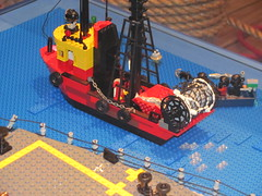 lego fishing boat (Soundwave_sw) Tags: museum winnipeg lego pirates navy canadian surrey class somali halifax frigate 2010 hmcs hmcswinnipeg