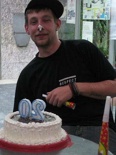 Bojan w_ bday cake