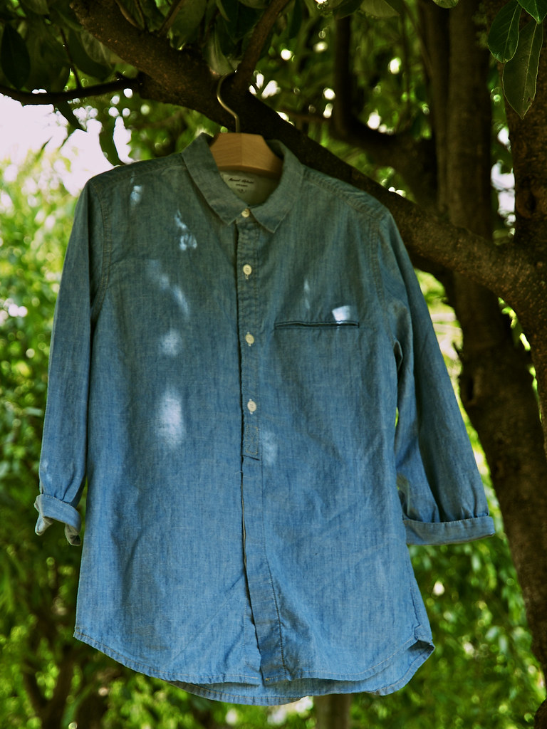 Manual Alphabet / Chambray 3/4 Shirt