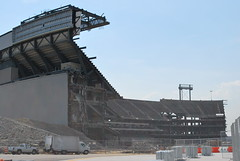 Remnants of Giants Stadium