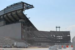 Remnants of Giants Stadium
