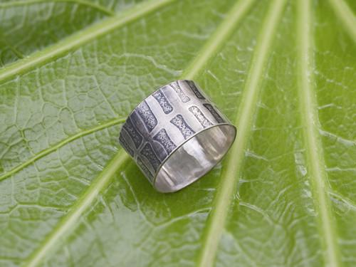 Fern Print Ring