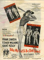 Take Me Out to the Ball Game_tatteredandlost (T and L basement) Tags: baseball ephemera musical mgm pinup franksinatra genekelly takemeouttotheballgame estherwilliams movieadvertisement busbyberkeley metrogoldwynmayer edwardalbert bettygarrett photoplaymagazineapril1949
