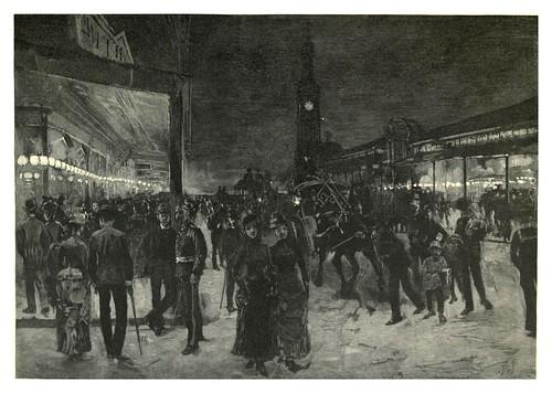 012-Sabado por la noche en George Street-Sydney-Australasia illustrated (1892)- Andrew Garran