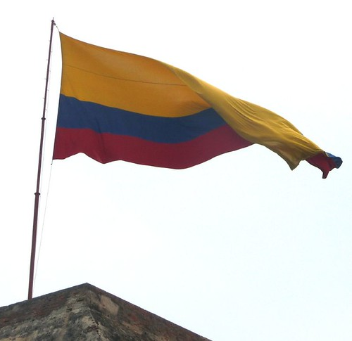 Flag of Columbia atop Ft. San Felipe