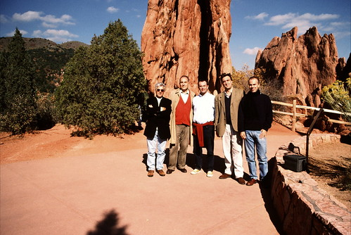 Sulle montagne rocciose in Colorado durante l'International Visitor Program del governo U.S.A., luglio 2006 con Gianni Vernetti, Marco Boato e Alessandro Garassini