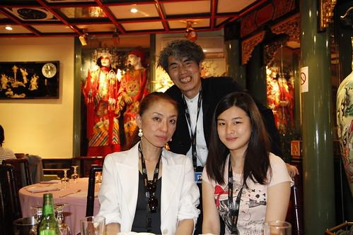 Kobayashi-sensei, Ando-sensei and Fooi Mun