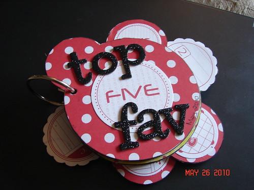 mini book - top five faves