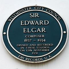 Photo of Edward Elgar green plaque