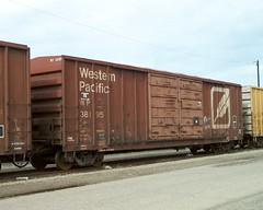 Western Pacific Railroad 50 foot double door box car. From the internet. by Eddie from Chicago