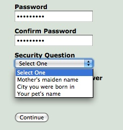 Security Question Weak Link
