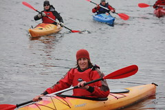 kayak touring over night exped on loch laggan