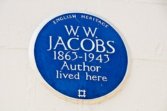 Photo of William Wymark Jacobs blue plaque